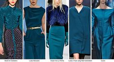 Groupings of popular palettes from neutrals , to brights for 2014/15. Jewel tones are showing to be the most influential. The article takes about every color grouping and what they will represent and why. Giuliana Plut.