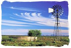 Windmill / Wind Turbine photo of the day. Lonely windmill in the Karoo pumping up precious water from underground in the Karoo National Park, South Africa copyright © South African tourism Farm Windmill, South Africa Tours, Old Windmills, What Image, Country Scenes, Water Tower, Le Moulin, Pretty Pictures, Wind Mills