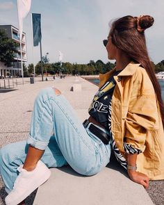 Cute Casual Outfits, Retro Outfits, Modest Outfits, Teen Fashion Outfits, Fall Outfits, Fashion Tips, Hijab Fashion, Girl Fashion, Fashion Hacks
