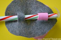 Candy Cane Mouse Christmas Craft