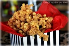 Caramel Cereal Clusters.  A family favorite!