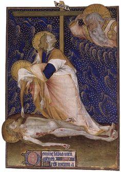 Lament over the Dead Christ // c. 1418 // Anonymous Frech miniaturist // Grandes Heures de Rohan / f. 135r // Bibliothèque Nationale de France