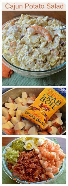 This #Cajun #Potato #Salad with shrimp is the best potato salad I have ever had…