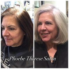 Favorite #beforeandafter. All day #colorcorrection. Guest had been covering her #gray #hair with #boxcolor and wanted to grow out her #color. The talented Therese and staff created a #beautiful...