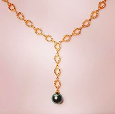 Stunning pearl drop necklace.  . . . #necklace #pearls #tahitianpearls #accessories #jewellery #design