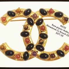 This extremely rare Rhinestone Cc Brooch is now on sale in our tradesy store!! #luxury #fashion #style #stylish #nycfashionrevival #chanel #cc Visit our trade store @ www.tradesy.com/closet/bag/ (tradesy verified seller: VintageLuxe)