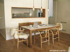 Mesa para dinner LH madera + carrara o hierro rustico (dejarlo oxidar un poco y dps barnizarlo) mas carrara marble top/