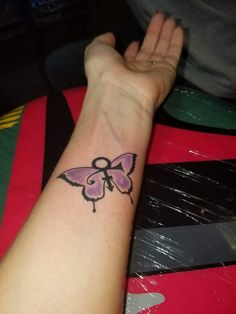Pin by crystal ann on prince symbol tattoo ideas in 2019 Foot Tattoos, Finger Tattoos, New Tattoos, Butterfly Name Tattoo, Butterfly Tattoo On Shoulder, Love Symbol Tattoos, Symbolic Tattoos, Lace Tattoo, I Tattoo