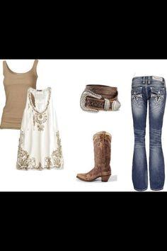 Country look :) Estilo Fashion, Fashion Moda, Look Fashion, Fashion Outfits, Womens Fashion, Fasion, High Fashion, Country Look, Country Girl Style