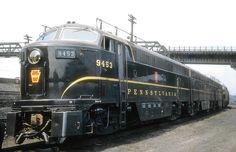 Pennsylvania Railroad FM CF16A-4 C-Liner, class FF16, 1,600 HP diesel electric locomotive # 9453, is seen at the railroad's facility in East Altoona, Pennsylvaina, September 16, 1955, John Dziobko Jr. Photo   Flickr - Photo Sharing!