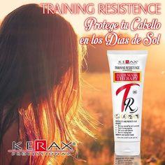 Protege tu cabello de los días de sol con nuestro TRAINING RESISTENCE. #hair #protection #crossfit #running #bike #sweat #calico #cartagena #women #woman #sun #sol #cabello #mujer #playa #vacaciones by keraxinternational