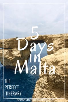 The Perfect 5 Day Malta Travel Itinerary from Bee Anything But Boring, a collection of travel goodness, providing inspiration for your next destination.
