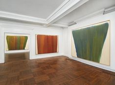 Installation view: Morris Louis, Veils at Mnuchin Gallery, New York (photo: Tom Powel Imaging, Inc.)