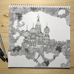 No photo description available. Doodle Art Drawing, Zentangle Drawings, Mandala Drawing, Abstract Drawings, Mandala Art, Zentangles, Art Drawings, Doodle Designs, Detailed Drawings