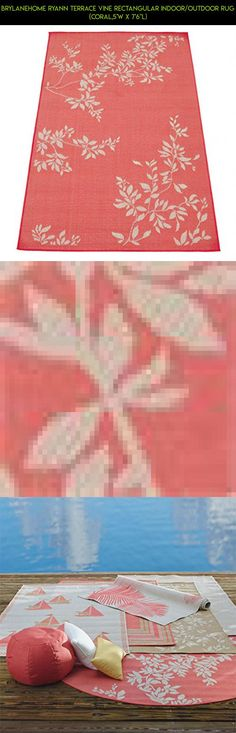 "Brylanehome Ryann Terrace Vine Rectangular Indoor/Outdoor Rug (Coral,5'W X 7'6""L) #products #camera #drone #parts #area #racing #technology #rug #tech #kit #plans #outdoor #shopping #gadgets #fpv #cooking"
