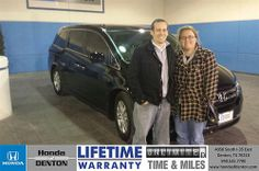 Thank you to Jane Loomis on your new 2014 #Honda #Odyssey from Richard Magnotti and everyone at Honda of Denton! #NewCar