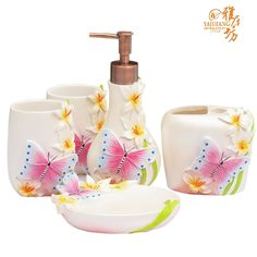 Butterfly Kitchen Decor Themes Bathroom Set Bathroom Supplies Kit Guanchong Fashion Wash Set