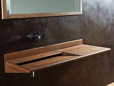 Single wooden washbasin countertop Sarah Collection by KARPENTER
