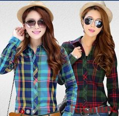 >> Click to Buy << New Brand 2017 Autumn Spring Women Plaid Blouses Casual Long-sleeve Women Plaid Shirts Blusas Work High Quality S - XXL J2351 #Affiliate