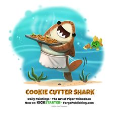 Daily 1365. Cookie Cutter Shark, Piper Thibodeau on ArtStation at https://www.artstation.com/artwork/0eRN8