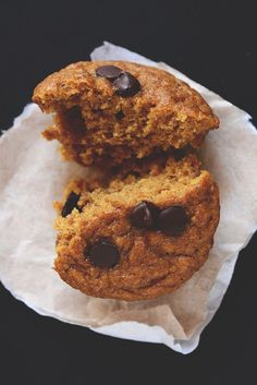 Paleo Pumpkin Chocolate Chip Muffins. Might be able to make them w/o eggs