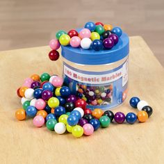 Ha. I want. http://www.teachersource.com/product/magnetic-marbles/electricity-magnetism