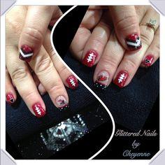 Football Nail Designs, Football Nails, Toe Nail Art, Toe Nails, Fancy Nails, Pretty Nails, Make Money Blogging, How To Make Money, Arizona Cardinals