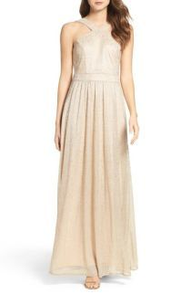 Lulus High Neck Shimmer Gown | No