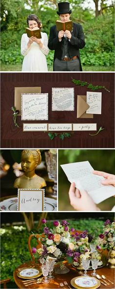 Pride & Prejudice- #themed #wedding- I could very well see this taking place at the club- oh the photo ops in the #Library! www.3westclub.com