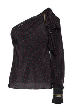 PHILOSOPHY DI LORENZO SERAFINI Fantasy Print One Shoulder Blouse. #philosophydilorenzoserafini #cloth #blouse