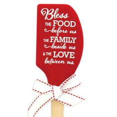 Bless The Food Spatula #food #kitchen #spoons #accessories #cute #home #decor #faith #brownlowgifts #brownlow