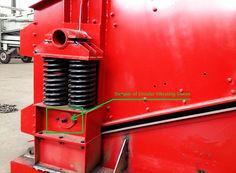 circular vibrating screen damper