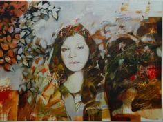 Yan Yeresko - Wanderer . Vándor Bródy Galéria  A kompozíció, az üres terek kitöltését újszerüen szürrealisztikusan oldja meg. A lány portréja a színek halvány használata ellenére is élőnek érzékelhető. Egy fajta hangulatot sugároz ami harmóniában van a kép egész színvilágával.
