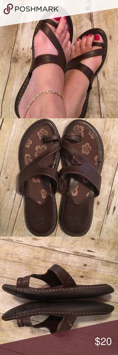 Just InBorn Brown Sandals Size 8 Great pair of very comfortable sandals. No rips, stains, holes or tears. If you know the label, you know the quality. Non smoking home Born Shoes Sandals