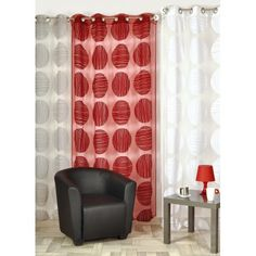 voilage motif fantaisie moderne 140 x 240 gris rideaux et voilages forme g om trique. Black Bedroom Furniture Sets. Home Design Ideas