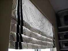 hodge:podge: How to Make a Faux Roman Blind