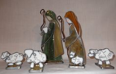 Heirloom 3D Stained Glass Nativity by SaltAndLightArts on Etsy