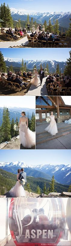 Wedding destination ideas. Aspen Colorado USA mountain wedding, summer wedding, winter wedding destination.