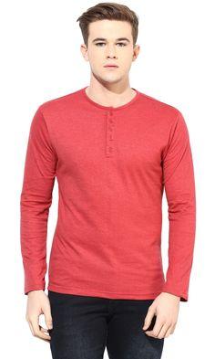 Henley Neck Full Sleeve T-shirt