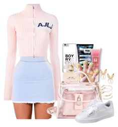 A fashion look from December 2017 featuring cropped cardigan, laced up shoes and charm bangle. Browse and shop related looks. Sweet 16 Outfits, Cute Swag Outfits, Kpop Outfits, Classy Outfits, Pretty Outfits, Chic Outfits, Girl Outfits, Fashion Outfits, Teenager Outfits