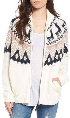 Women s Bp. Fair Isle Knit Cardigan Shawl Collar Cardigan 62a6b10b1
