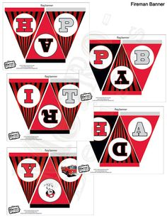 Fireman Banner Digital Files by MetroEvents on Etsy, $5.98