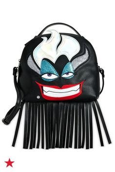 Finish off your look with a playful, fringe crossbody inspired by Ursula and The Little Mermaid—available at Macy's!