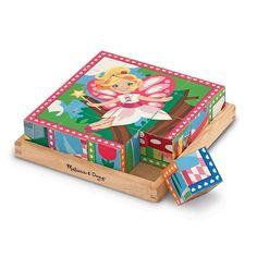 Melissa & Doug 16-pc. Princess & Fairy Cube Puzzle Set, Multicolor
