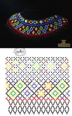 Natali Khovalko   VK Diy Necklace Patterns, Beaded Jewelry Patterns, Beading Patterns Free, Beading Tutorials, Seed Bead Projects, Zulu, Bead Weaving, Inspiration, Beads Tutorial