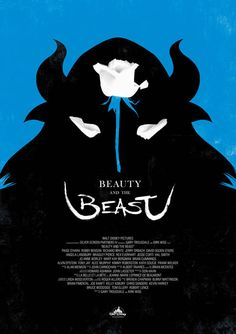 Minimalist concept poster for Disney's Beauty and the Beast.