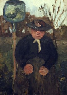 Paula Modersohn-Becker - German Expressionism - Old Woman in the garden - Sitzende Dreebeen