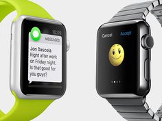 Receive and send messages in amazing ways — from your wrist. Send preset phrases, smart responses based on your conversation, audio messages, your location — even interactive emojis.