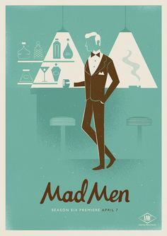 Series of 3 posters for Mad Men season six.