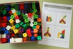 tresquatreicinc: CUBS MULTILINK AL RACÓ DE MATEMÀTIQUES Family Math Night, Math Bingo, Maths Area, I Love Math, Logic Games, Daily Math, Math School, Grande Section, Pattern Matching